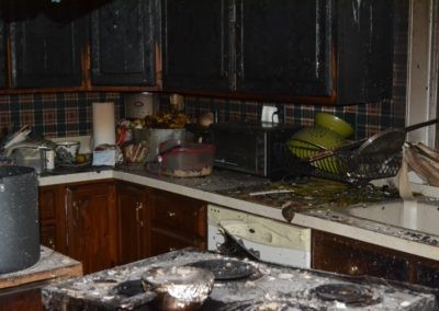10 Fire - kitchen content damage