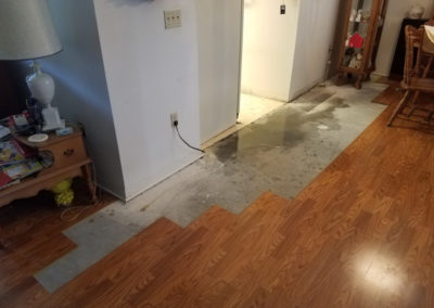 10 laminate flooring removed for dryout