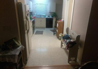 12 new kitchen floor (tile)