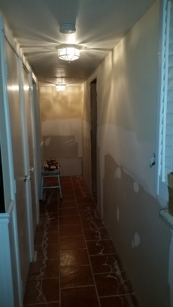 24 repairs in progress - hallway