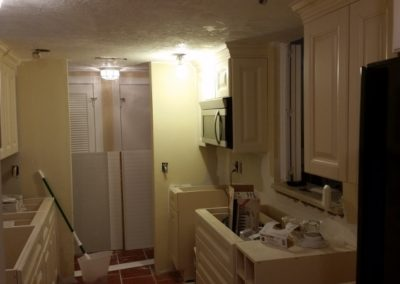 33 Kitchen repairs in progress