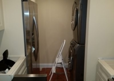 34 Laundry room repairs in progress