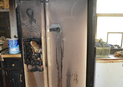 4 Fire - damage to refridgerator