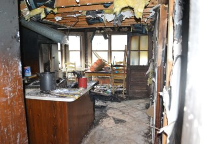 5 Fire - heavy damage to kitchen