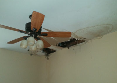 6 - roof leak causing damage to ceiling