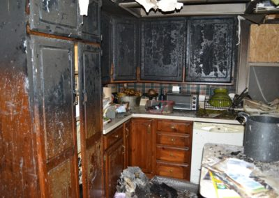 8 Fire - charred cabinets