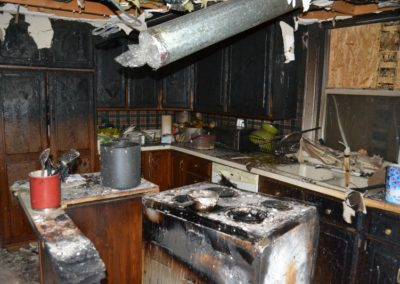 9 Fire - kitchen damage