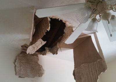9 roof leak caused ceiling to cave in