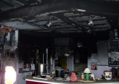 3 fire - kitchen - heavy damage