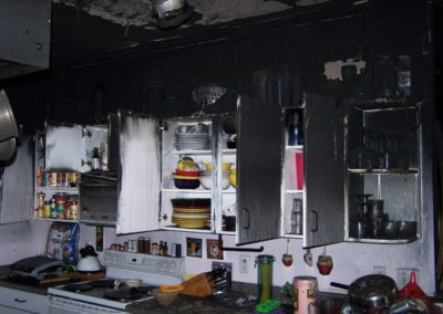5 Fire - soot in kitchen