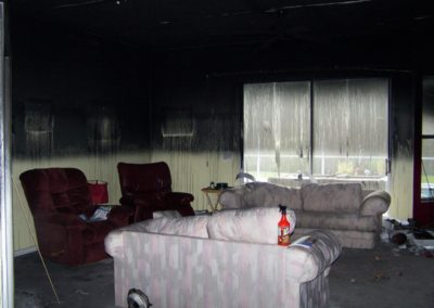 6 fire - heavy soot in living room