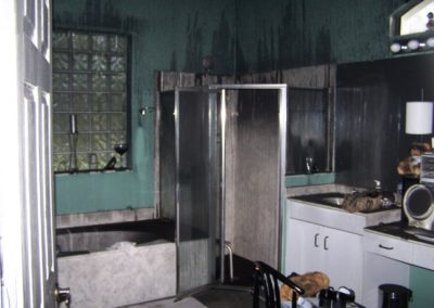 9 soot damage in bathroom (bathroom is the farthest room from source room)